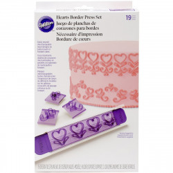 19PC BORDER PRESS SET HEARTS