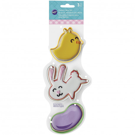 Chick, Bunny and Jelly Bean Easter Cookie Cutter Set