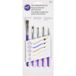 5 PIECE DECORATING BRUSH SET