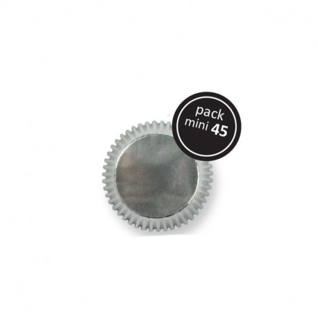 Silver Mini Baking Cups 45pk