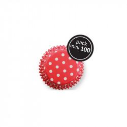 Red Polka Dots Mini Baking Cases Pk/100