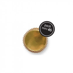 Gold Mini Baking Cups 45pk