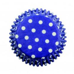 Blue Polka Dots Std Cups Pk60