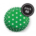 Green Polka Dots Std Cups Pk60
