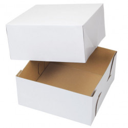CAKE BOX CORRUGATE 10X10X5 2CT