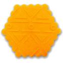 13' Impression Rolling Pin, 1' dia., Aztec