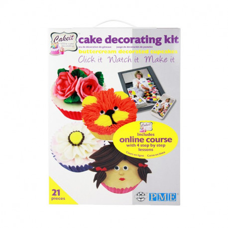 Online Cupcake Decorating Course and Kit - 21 pie?Â??