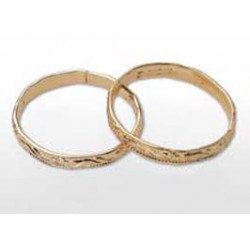 GOLD WED BANDS 48 PK
