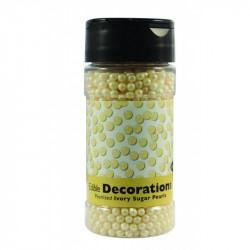 Ivory Pearlized Sugar Pearls 113g 4mm
