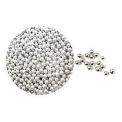 4mm Approx Silver Dragee Pearls Sugar 1KG