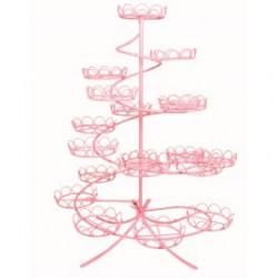 Pink Coated Wire Cupcake Stand (Hold 19)