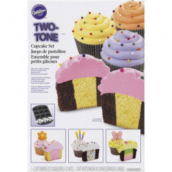 TWO TONE CUPCAKE BAKING 2 PC
