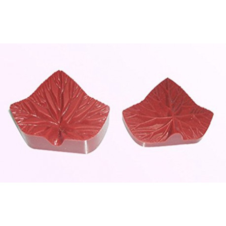 Silicone Veiner Mold, Ivy Leaf, 77mm x 55mm x 30mm