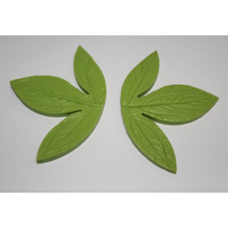 Silicone Veiner Mold, Peony Flower Leaf, 135mm x ?Â??