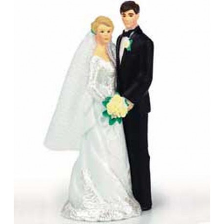 OUR DAY FIGURINE (BLONDE/WHITE GOWN)