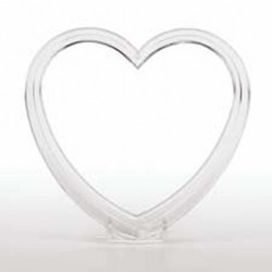 5 1/2 IN. CRYSTAL-LOOK HEART FIGURINE/TOPPER SETTING