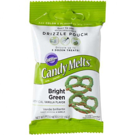 BRIGHT GREEN CANDY DRIZZLES POUCH