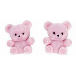PINK BABY BEARS FAVOR ACCENTS