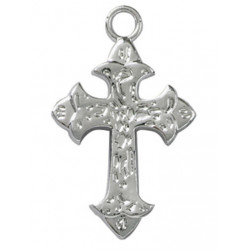 SILVER FAITH CROSS FAVOR ACCENT