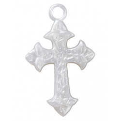 WHITE FAITH CROSS FAVOR ACCENT