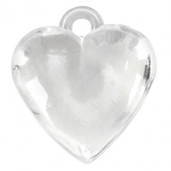 CLEAR HEART CHARMS
