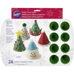CHRISTMAS CONE SILICONE MINI TREAT MOLD