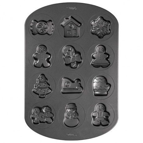 12 CAVITY GINGERBREAD AND CANDY COOKIE PAN