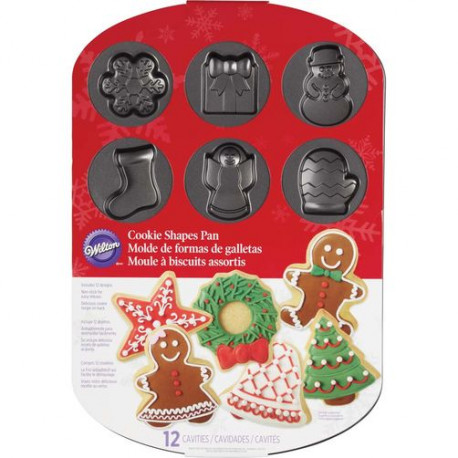 CHRISTMAS COOKIE SHAPES PAN