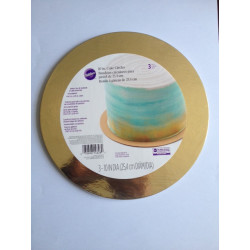 METALIC CAKE BOARD GOLD 3 PACK