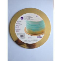 METALIC CAKE BOARD GOLD 3 PACK