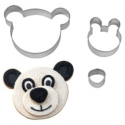 TEDDY BEAR STACKABLE! COOKIE CUTTER SET