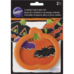 PUMPKIN & BAT HALLOWEEN COOKIE CUTTER SET
