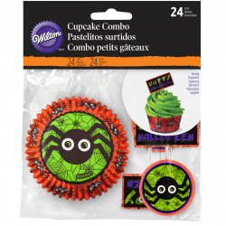 Wilton Cupcake Combo Jack N Ghouls Spider pk/24