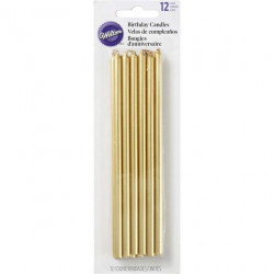 TALL GOLD BIRTHDAY CANDLES