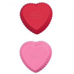 MINI SILICONE HEART BAKING CUPS