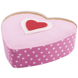 3-INCH HEART DISPOSABLE BAKEWARE