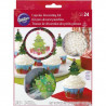 CHRISTMAS TREE CUPCAKE DECORATING KIT
