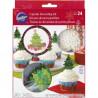 CHRISTMAS TREE CUPCAKE DECORATING KIT