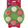 CHRISTMAS WREATH MINI CUPCAKE LINERS