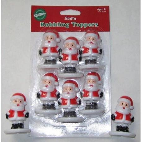Bobbling Santa Toppers