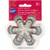 Wilton Cookie Cutter Assorted Snowflakes Set/3