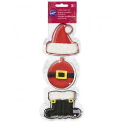 SANTA CLAUS COOKIE CUTTER SET
