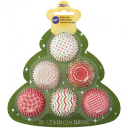 Assorted Holiday Mini Baking Cups