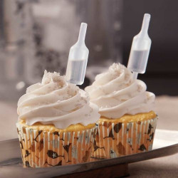 CHAMPAGNE BOTTLE SHOT TOPS FLAVOR INFUSERS & CUPCAKE LINERS
