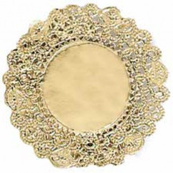 8INCH GOLD DOILIES 12PK
