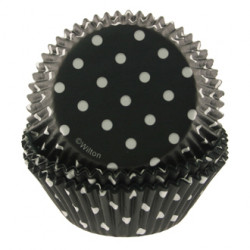 Black polka dots Baking Cups