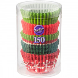 WILTON MINI BAKING CUPS HOLIDAY PK/150