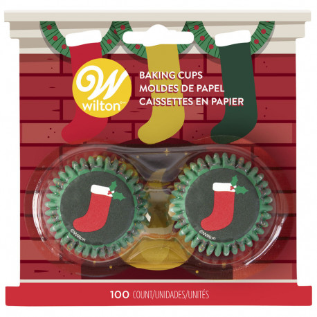 STOCKING MINI CUPCAKE LINERS, 100-COUNT