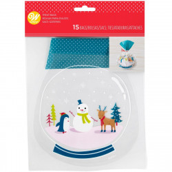 WILTON SHAPED TREAT BAGS SNOW GLOBE