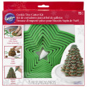 GINGERBREAD COOKIE TREE CUTTER SET